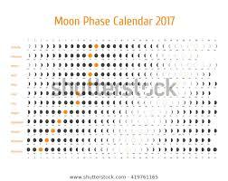 Vector Astrological Calendar 2017 Moon Phase Stock Vector
