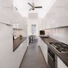 white galley kitchens. Inspiration For A Contemporary Galley Concrete Floor Kitchen Remodel In  Santa Barbara With White Cabinets, Kitchens