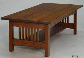 mission style furniture coffee table