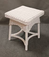 square white wicker end table all about wicker mainstays wicker side table white