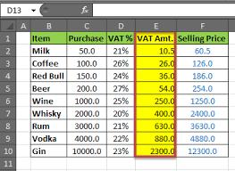 Vat Calculation Formula In Excel Download How To Calculate Vat In Excel Vat Formula Calculating