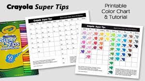 Crayola Supertips 50 Color Chart Free Color Chart For Crayola Super Tips Markers Adult