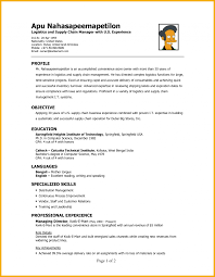 Logistics Resume Objective Assistant Sample Profile Professional