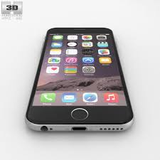 iphone 6 silver. apple iphone 6 silver 3d model max obj 3ds fbx c4d lwo lw lws