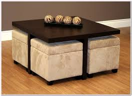 Seating coffee tables pair nicely with upholstered storage cubes or upholstered storage ottomans. Coffee Table With Stools You Ll Love In 2021 Visualhunt