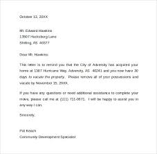 30 day notice letter to vacate the property thirty day notice letter