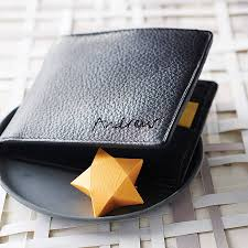 personalised men s leather billfold wallet