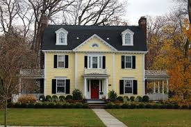 yellow house with shutters marvelous yellow house with red door on amazing home design planning with yellow house