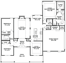 3 bedroom ranch house plans one and a half story 3 bedroom 2 bath country style 3 bedroom ranch house plans
