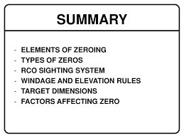 Zeroing The Service Rifle Ppt Download