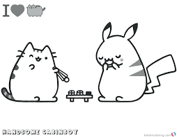 Pusheen Coloring Pages X Christmas