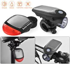 <b>Solar Power Bicycle</b> Light Set USB Rechargeable <b>Bike</b> Lights <b>Front</b> ...