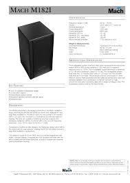 Sound Box Design Pdf Mach M182i Pdf Text Files Manualzz Com