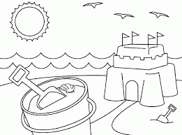Summer coloring pages can be useful for teachers and parents who cares about kids development coloring page resolution: Beach Coloring Pages Free Printable Coloring Home