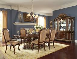 Enchanting Traditional Dining Room Displaying Brown Round Pedestal - Traditional dining room set