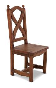 chestnut x back dining chair