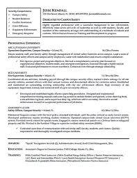 Free Download Security Officer Resume Template Billigfodboldtrojer