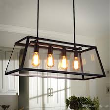 loft pendant lamp retro american industrial black iron pertaining to contemporary household modern rectangular chandelier decor
