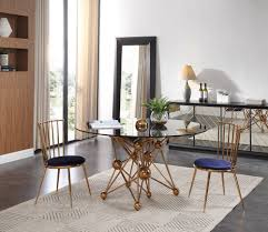 modern round dining room table. Modrest Brenna Modern Smoked Glass \u0026 Rosegold Round Dining Table Room N