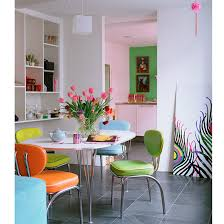 retro look furniture. In Contrast, This Dining Scheme Has Gone For Lots Of Bright Colour Their Furniture Choice To Create Funky Retro Look. It\u0027s A Lot Easier Live With Look