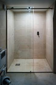 install frameless glass shower door the sliding glass shower door with two fixed panels is suitable