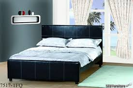 queen size bed frame w leather headboard footboard