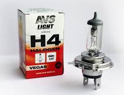 <b>Лампа</b> галогенная <b>AVS Vegas H4</b>.12V.60/55W (1 шт.) оптом от ...