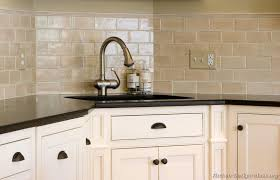 Tile Backsplash Ideas For White Cabinets Amazing Kitchen Idea Of The Day Creamy Subway Tile Backsplash Behind The