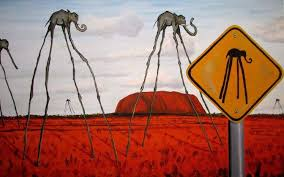 fantasy art surreal clouds elephants signs hill nature artwork