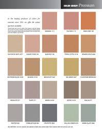 Davis Concrete Color Chart Davis Concrete Colors Coloring