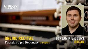Online Recital by organist Benjamin Giddens - YouTube