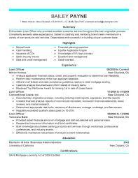 Resume Tips for Loan Officer