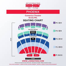 Comerica Phoenix Seating Chart Nct 127s 1st World Tour Neo City The Origin Seating