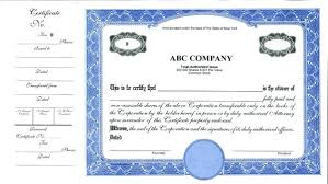Corporate Stock Certificate Template Share Free Company – Peero Idea