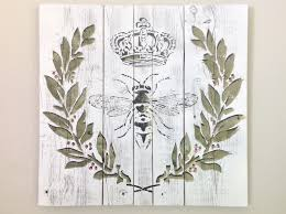 queen bee pallet wall art french country decor farmhouse decor shabby chic decor wood pallet housewarming gift queen bee wall decor on pallet wall art shabby chic with queen bee pallet wall art french country decor farmhouse decor