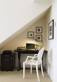 office under stairs. Nook Office Under Stairs- Basement Stairs A