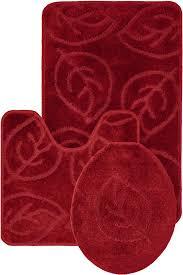 red bath mat set amazing piece bath rug set brick red