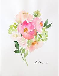 gallery of watercolours flowers painting