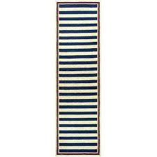 nautical runner rug stripes navy red indoor outdoor rugs clearance