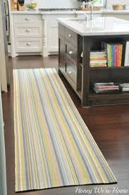 kitchen striped kitchen rug incredible adding color in the kitchen honey we ure home pict of