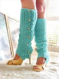 crochet leg warmers and boot socks
