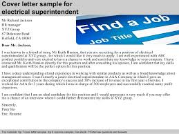 cover letter sample for electrical superintendent superintendent cover letter