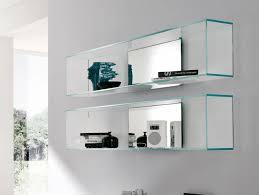Led Floating Glass Shelves Ideas Of Led Floating Glass Shelves Custom Wall Shelf Intended For 85