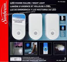 Sunbeam Night Light Power Failure New 3 Pack Sunbeam Led Night Light Flashlight Rechargeable