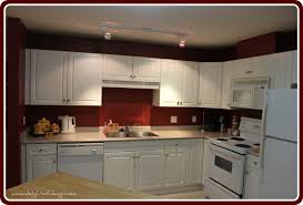 Red And White Kitchens White Kitchen Cabinets Red Walls Quicuacom