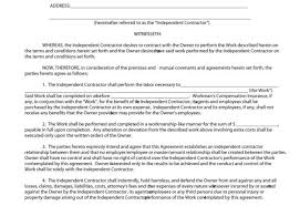 Document Template : Work Contract Agreement 4X6 Postcard Business ...
