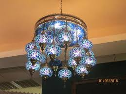 istanbul restaurant patisserie lovely stained glass chandelier at the back