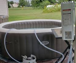 portable water heater for a hot tub or pool