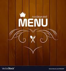 Restaurant Menu On Wood Background