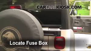 interior fuse box location 1997 2006 jeep wrangler 2006 jeep locate interior fuse box and remove cover